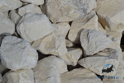 Мраморный щебень для габионов белый фр. 70-150 мм навал