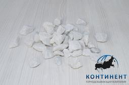 Мраморный щебень 5-20 мм цвет белый без вкраплений навал