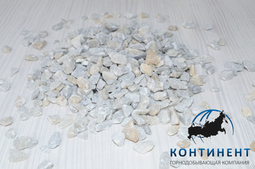 Мраморный щебень 5 -10 мм цвет серый в мкр