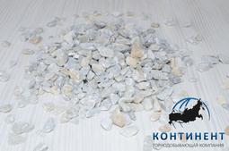 Мраморный щебень 5 -10 мм цвет серый навал