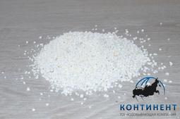 Мраморный щебень 2,5-5 мм цвет белый без вкраплений навал