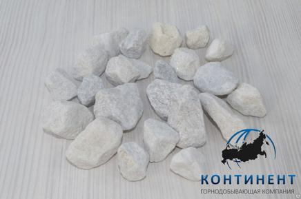 Мраморный щебень 20-40 мм цвет белый навал