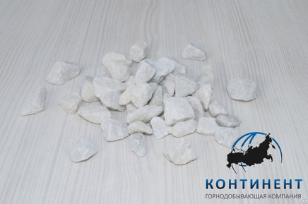 Мраморный щебень 10-20 мм цвет белый без вкраплений навал