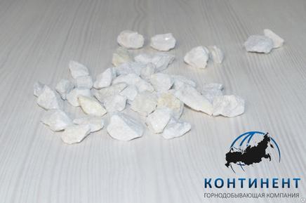 Мраморный щебень 5-10 мм цвет белый без вкраплений в мкр