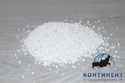Мраморный щебень 2,5-5 мм цвет белый без вкраплений в мкр