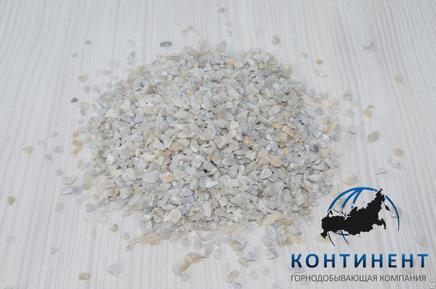 Крошка мраморная (мраморный песок) фр.2,0-3,0мм цвет серый в мкр