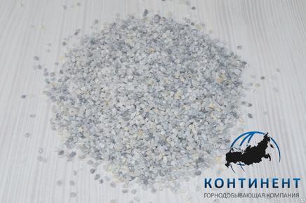 Крошка мраморная (мраморный песок) фр.1,0-1,5мм цвет серый в мкр