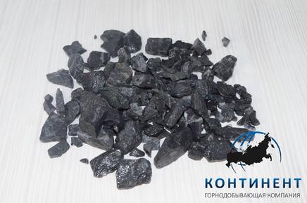 Мраморный щебень   черный 40-70 мм навал